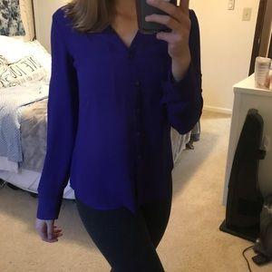 Express Tops - 2/$20 Purple Express Button-Up Blouse